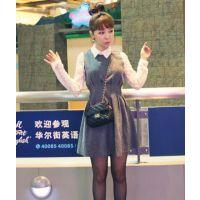 新款韩版秋冬修身显瘦收腰蕾丝长袖短裙气质连衣裙打底裙