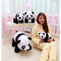 新款仿真熊猫大熊猫毛绒玩具公仔趴趴熊猫抱枕布娃娃熊猫公仔玩具