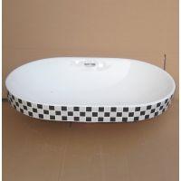 新款彩花黑白蓝彩色马赛克台中陶瓷洗脸盆