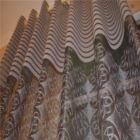 新款地中海风卧室雪尼尔绣花窗帘 高档雪尼尔定制 绍兴窗帘布