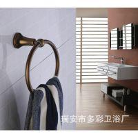 自产自销 太空铝彩色浴室五金件 青古铜毛巾环 毛巾挂