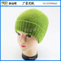 外贸冬帽出口 时尚鲜艳套头毛线帽 户外保暖护耳帽 学院风针织帽