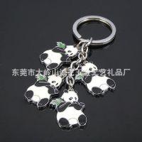 CY100325 熊猫串串串链钥匙扣手机挂件促销礼品饰品厂家直销