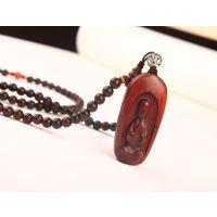 独创设计小叶紫檀木珠子项链/精品木质地藏菩萨车载挂件