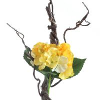 高仿真枯藤条配绣球花园艺装饰花工程花材娟花假花人造植物