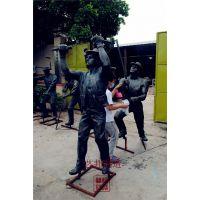 淘金乐园雕塑,男人雕塑