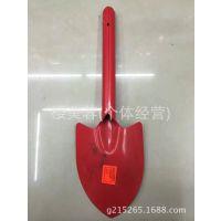 T055中大号喷红色园林工具铲子,耙子