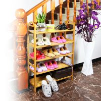 长期销售 实木楠竹平板鞋架 商店鞋架家用鞋架 组合拆装式迷你型