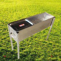 80公分加厚加宽不锈钢烧烤炉子家用户外便携木炭烧烤箱烤肉架批发