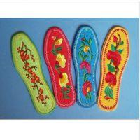 纯手工十字绣纯棉布成品鞋垫 绣花鞋垫 喜庆用品 防臭除臭吸汗