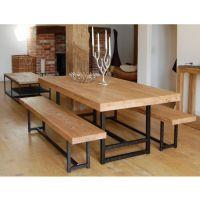 欧美式乡村复古餐桌椅 高档实松木餐厅桌 仿古做旧咖啡厅餐桌餐椅