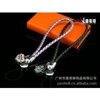 厂家直销皮革挂绳 真皮手机绳 PU手机绳 编织手机吊绳 卡套挂带
