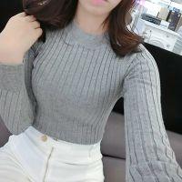 韩版2014秋装新款女装修身针织衫半高圆领套头长袖打底衫针织毛衣