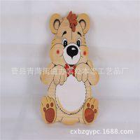 曹县木制品厂家加工定做卡通熊木质挂件 创意雕刻木质工艺品批发