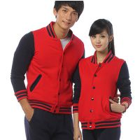 情侣棒球服定制 韩版卫衣定做2015男士棒球衫批发男式外套印logo