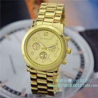 速卖通ebay 亚马逊爆款 欧美热销男女石英瑞士合金手表 钢带手表