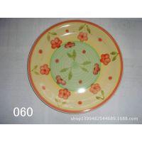 出口日用7.5寸炻瓷手绘果盘 陶瓷手绘盘子