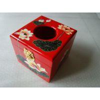 平遥漆器纸巾盒 纸抽盒 手绘漆器纸巾盒  酒店用具 会所用具盒