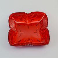 0912双色喜庆果盘 大红色果盘 批发结婚用品糖果盘 塑料盘子