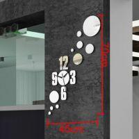 速卖通热销镜面钟表时尚挂钟立体墙面装饰品圈圈数字情壁钟zb012