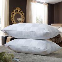 简约九分格白色长方枕芯 5.1-10cm高档酒店专用枕芯 秋冬季批发