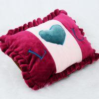 情侣浪漫爱心可拆洗双插手电热袋 冬季保暖热水袋 未注水4色可选