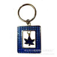 工厂价直销新款闪亮钻石效果钥匙扣 创意滴胶闪亮片钥匙扣