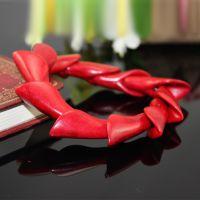 【惊爆价】35mm百合形红爆花松石手链手排 美国绿松石 土耳其玉