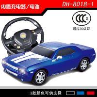 仿真1:18道奇遥控车玩具车 电动遥控带灯光汽车模型【带充电】