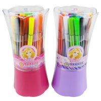 新款正品授权迪士尼 花束筒装芭比水彩笔 36色可洗水彩笔 BL8158