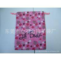 供应210D涤纶印花小束口袋实用公司促销礼品拉绳束口袋订制