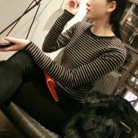 供应小宜 2014秋装新款女装 条纹毛衣百搭打底衫X316-2