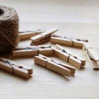 新品 韩国复古原色彩色木质夹子 照片夹零食夹小巧留言夹款式可选