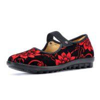 厂家直销时尚婆婆鞋老北京布鞋防滑底中老年布鞋松紧跳舞鞋妈妈鞋