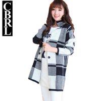 CBRL针织衫毛衣中长款外套韩版黑白格来自星星的你同款F