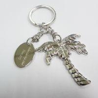 来样定制-纪念礼品 锌合金3D浮雕椰树吊牌钥匙扣NISSAN 锁匙扣
