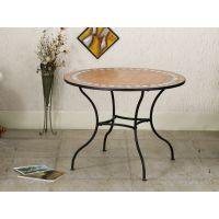 藤铁之乡 欧式铁艺圆桌 马赛克桌子 创意家具 简约风格 可定做