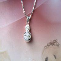 S990纯银 转运珠式葫芦 好运连连 吊坠 女朋友礼物