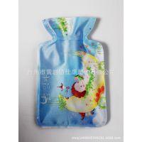 丝光布pvc热水袋 注水保暖手宝电暖宝宝暖手袋