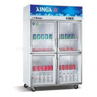 星星经济型冷藏啤酒饮料展示柜、SG1.0E4、四门冷藏展示柜、