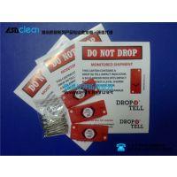 供应drop n tell塑料、塑胶标签 碰撞显示标签 防震动标贴 震动显示器