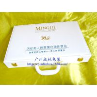 供应工厂供应化妆品套装盒、高档化妆品手提皮盒