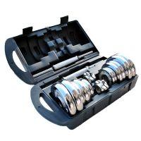 厂家自产自销批发精装塑盒20kg套装电镀哑铃 质优价廉 欢迎选购