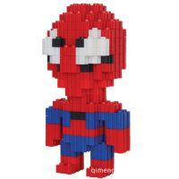 乐高式积木 钻石卡通儿童玩具 拼装小颗粒积木 儿童积木 蜘蛛侠