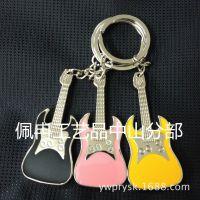 现货批发金属吉他钥匙扣2014款乐器音符钥匙链腰挂件高档出口