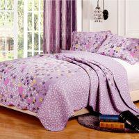 米悦 纯棉可水洗绗缝被床盖三件套 田园夏凉空调被批发