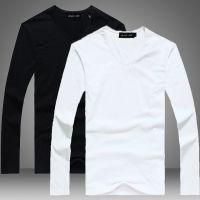 2014秋装新品韩版修身v领纯色打底衫 本店主打款 空白打底衫