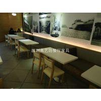 横岗餐厅家具定做款式新颖 优雅西餐厅桌子 连体铸铁脚餐桌 典艺坊厂家生产直销