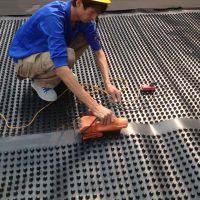供应陕西排水板,厂价直销/机场停车场专用排水板,质优价廉