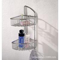 开平网篮 广东网篮 304不锈钢 双层浴室置物架 带钩 转角架 挂件